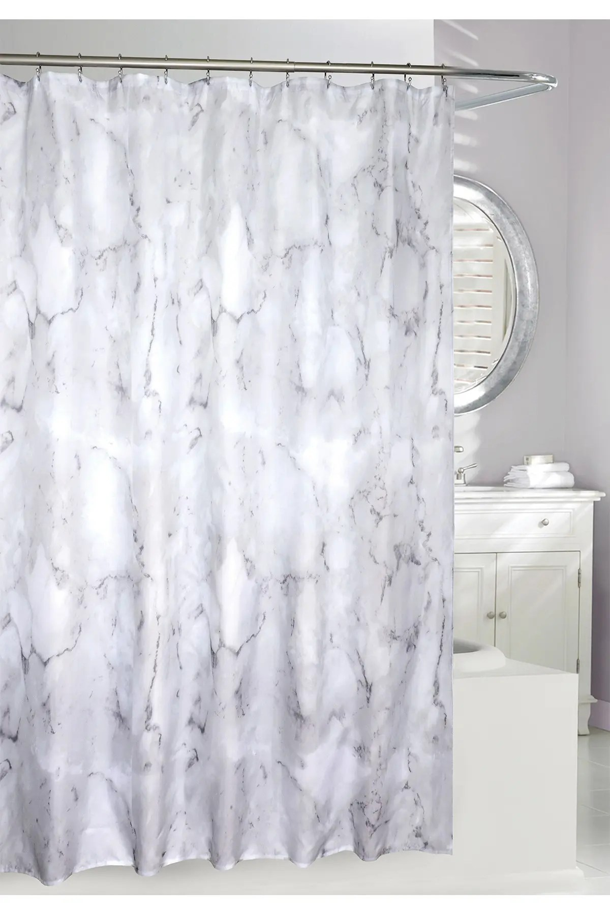 moda at home neutral marble wash shower curtain nordstrom rack