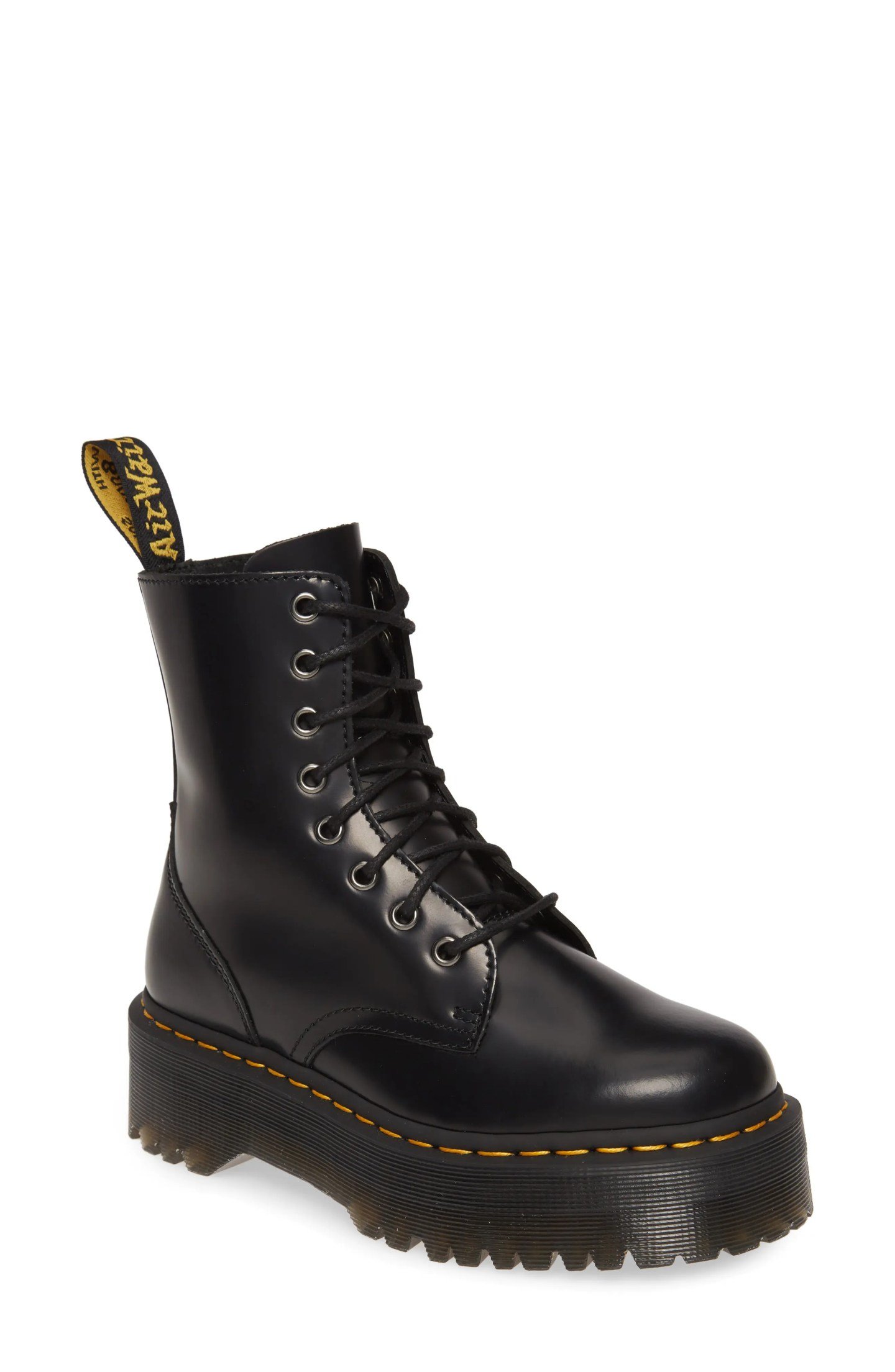 DR. MARTENS 'Jadon' Boot, Main, color, BLACK
