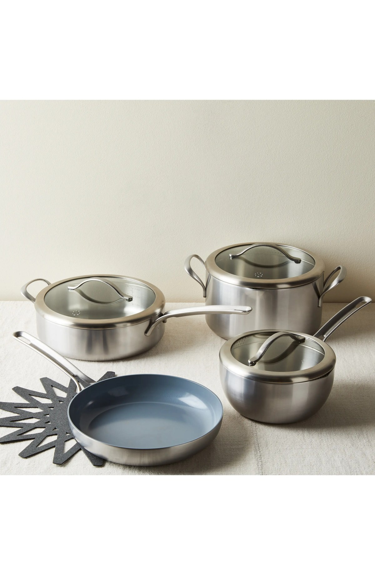 FIVE TWO BY FOOD52 7-Piece Essential Cookware Set, Main, color, METAL
