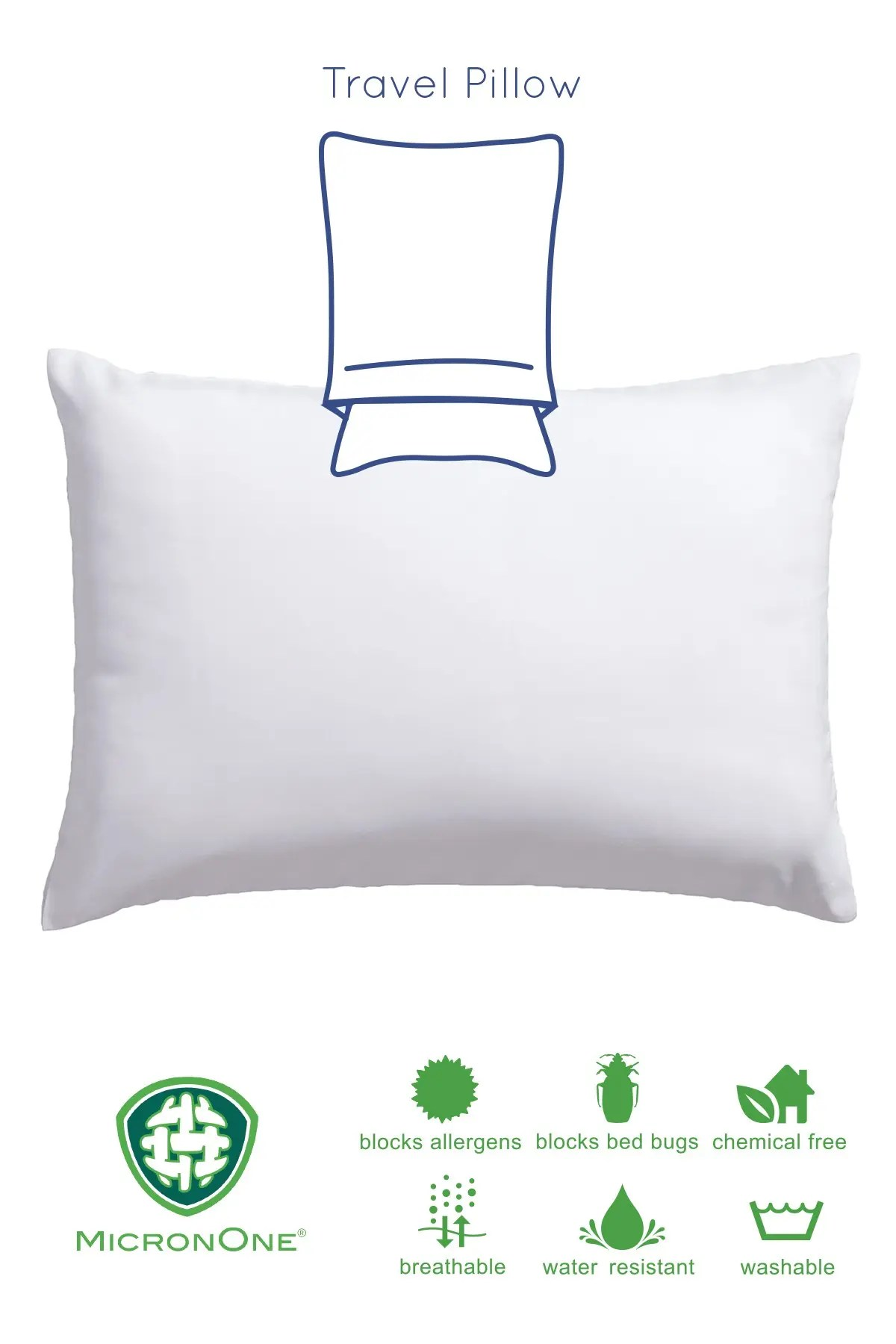 allied home premium micronone king allergen barrier 2 in 1 pillow enhancer and travel pillow nordstrom rack