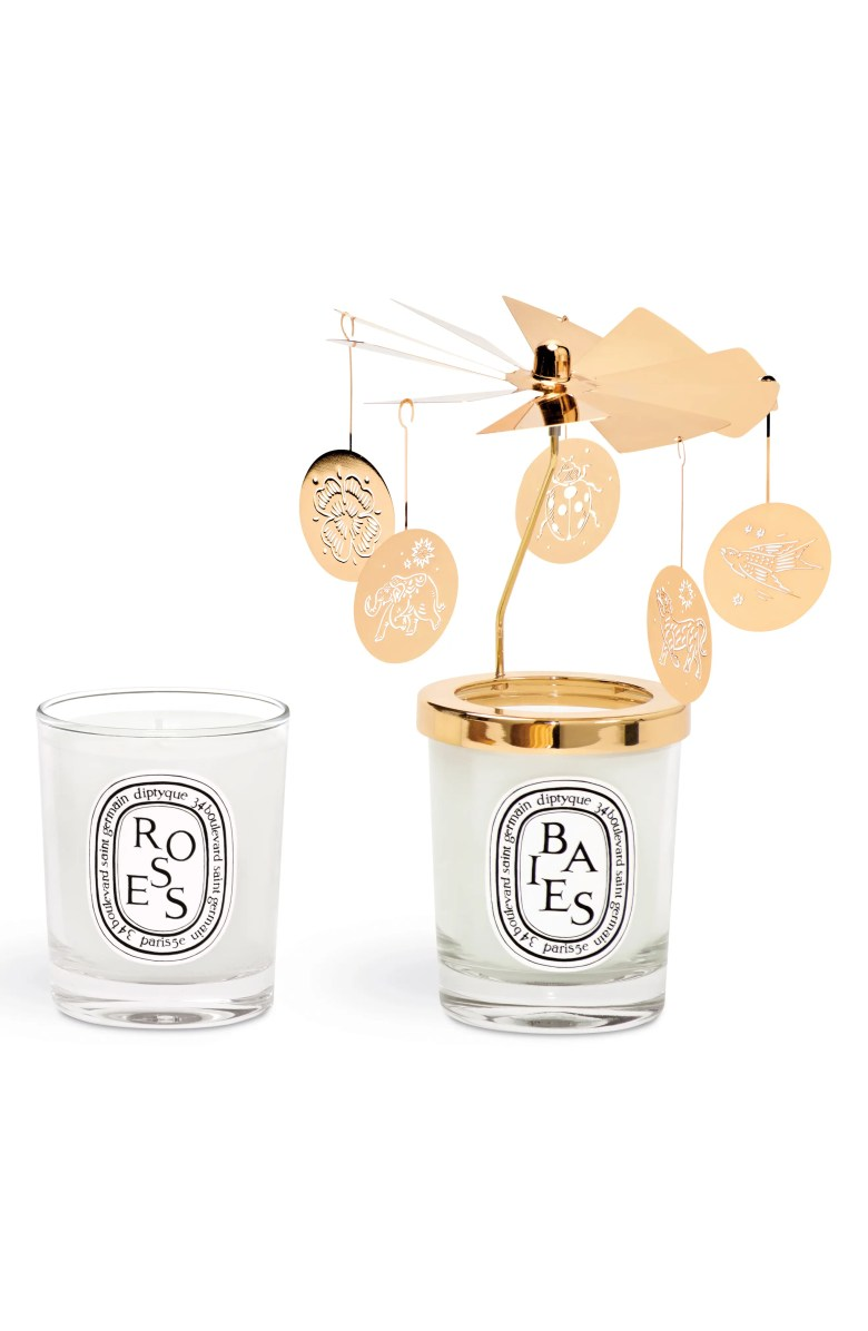DIPTYQUE Baies & Roses Carousel Candle Set, Main, color, NO COLOR