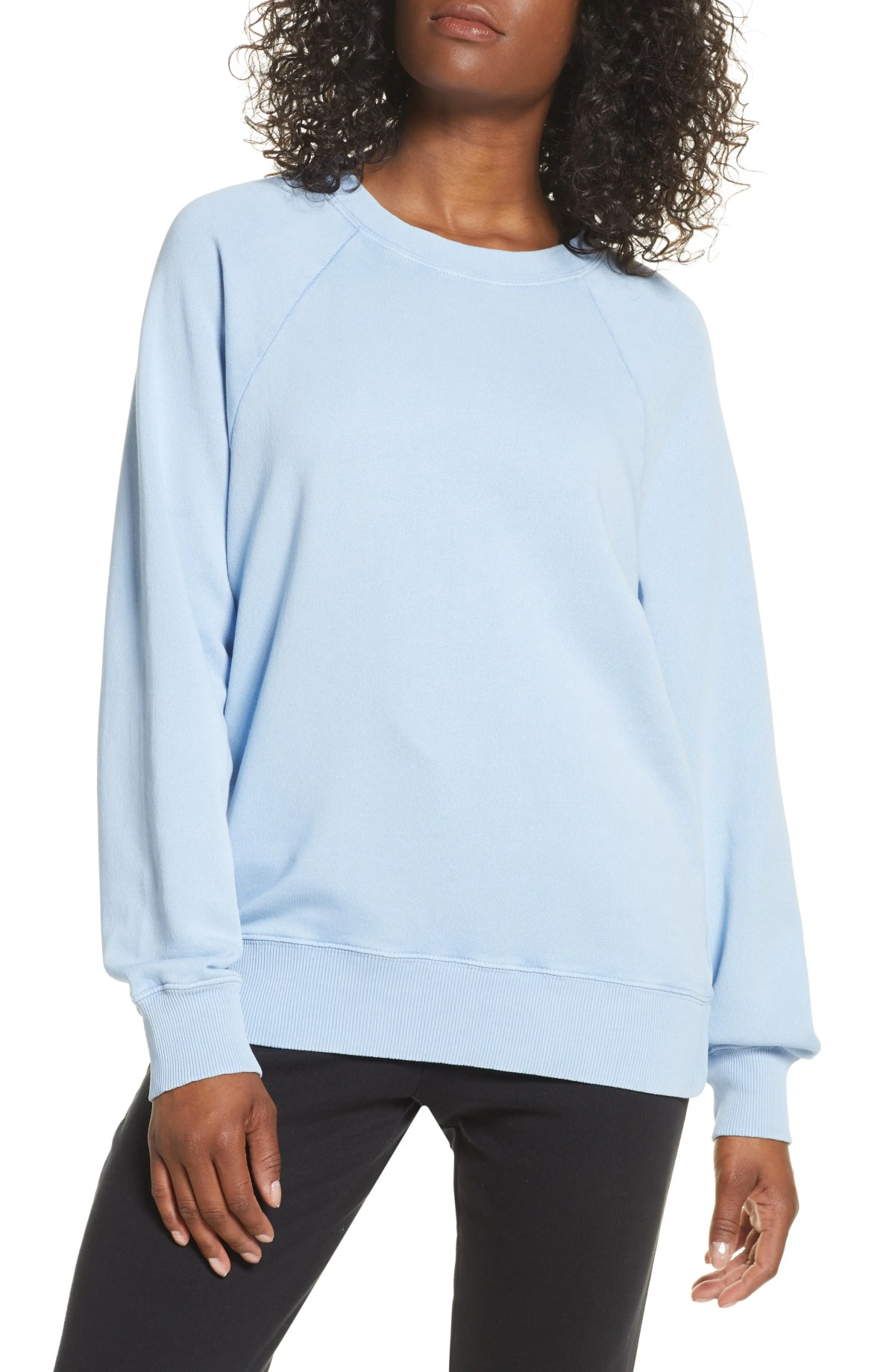 ZELLA Jamie Crewneck Sweatshirt, Main, color, BLUE CASHMERE