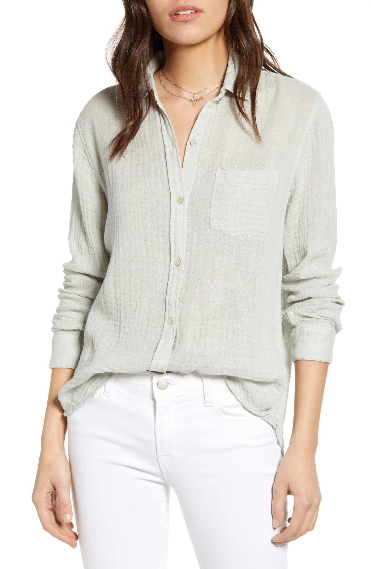 RAILS Ellis Cotton Shirt, Main, color, MEADOW