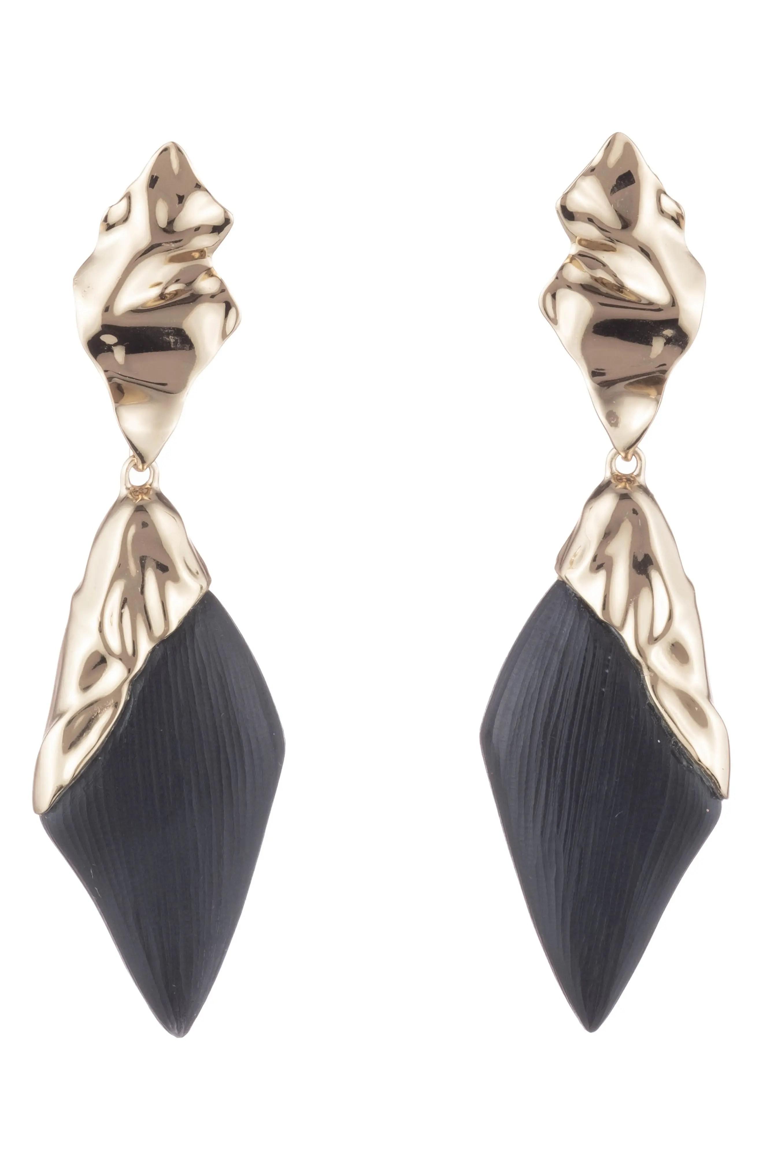 alexis bittar retro gold crumpled gold drop earrings nordstrom rack
