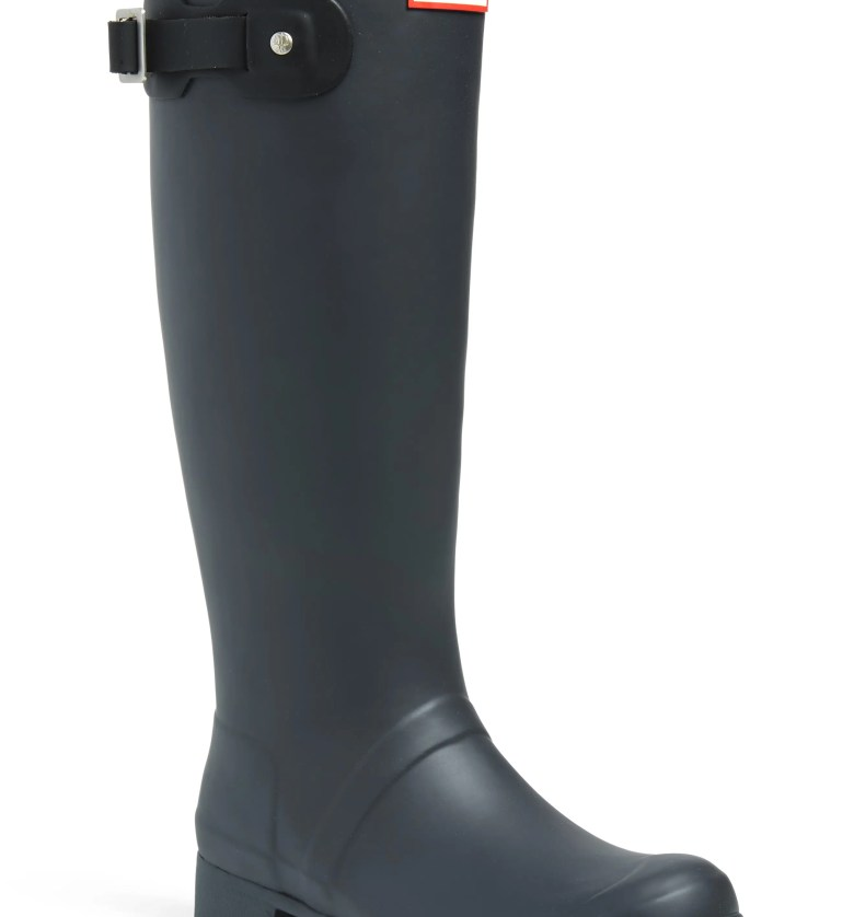Tour Packable Waterproof Rain Boot, Main, color, LUNA/ BLACK