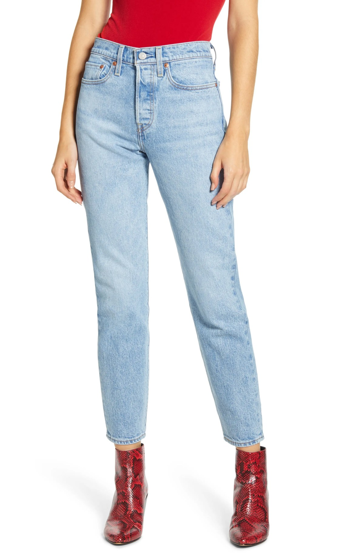 LEVI'S<SUP>®</SUP> Wedgie Icon Fit High Waist Jeans, Main, color, TANGO LIGHT