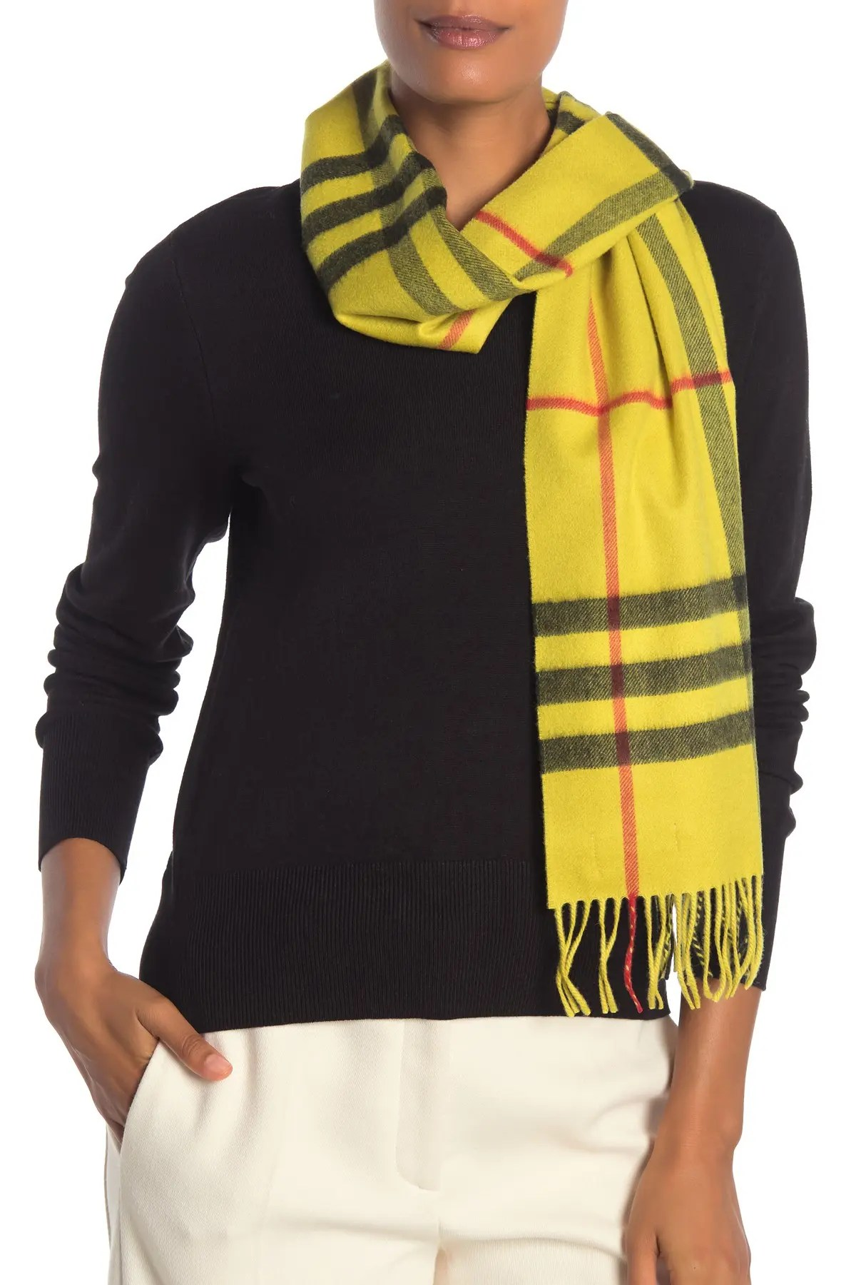 burberry overdyed giant check cashmere scarf nordstrom rack
