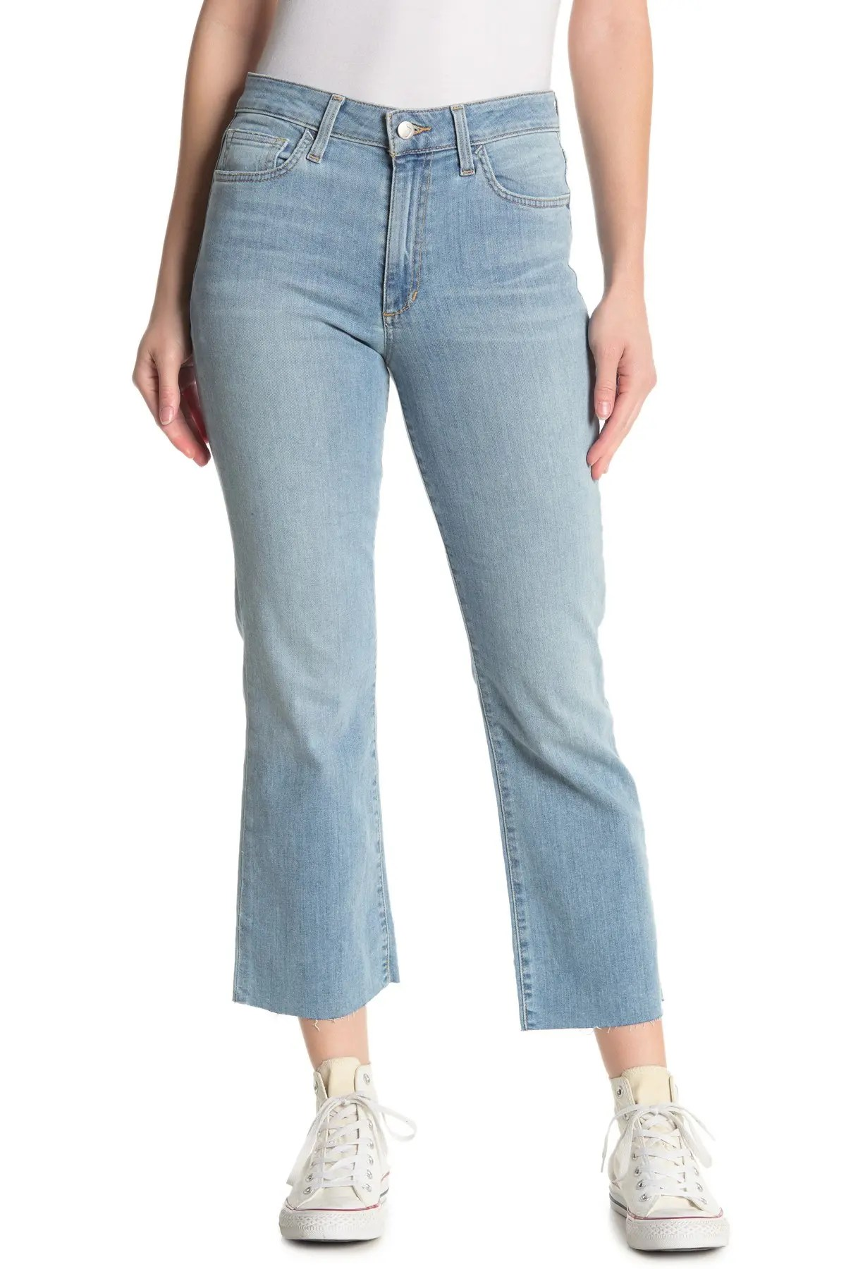 joe s jeans high waisted kick flare crop jeans nordstrom rack