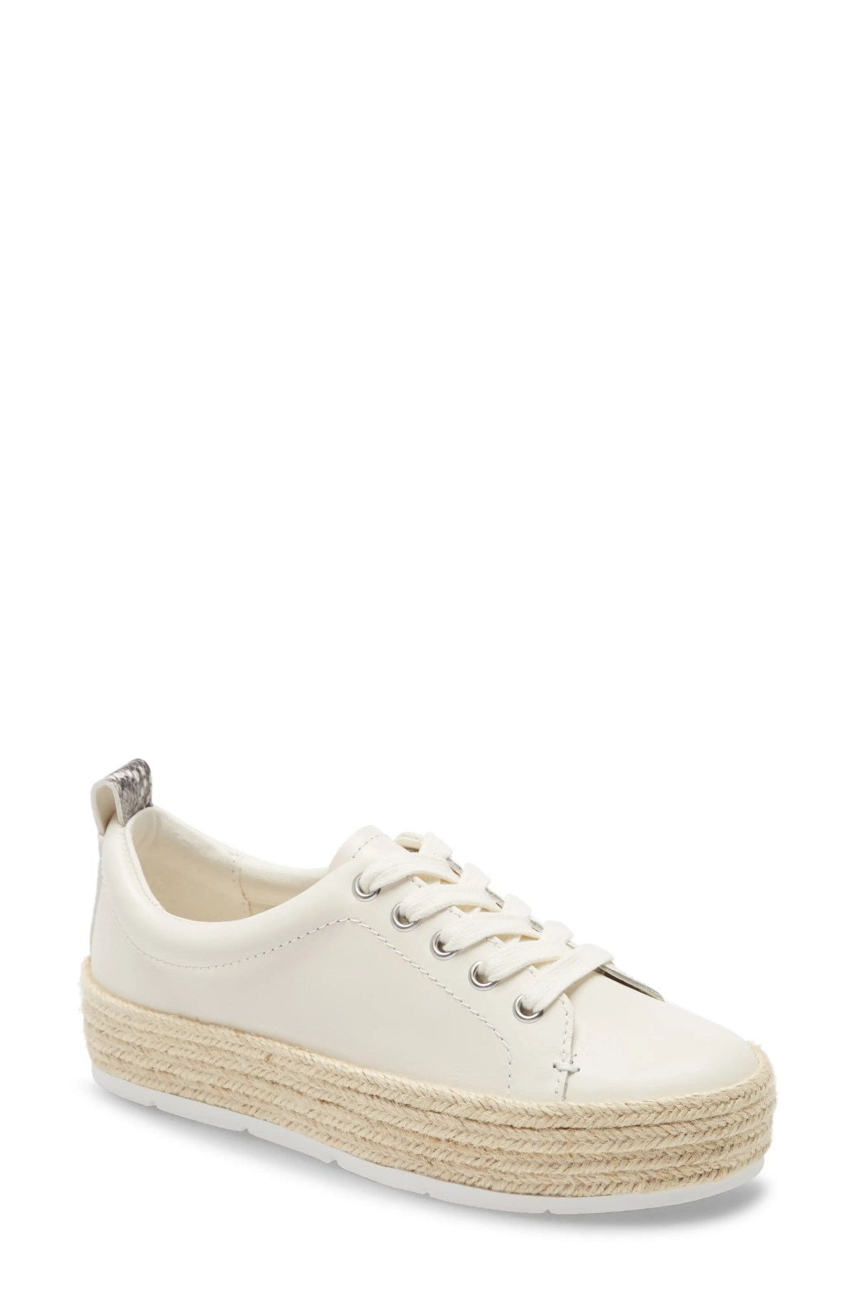 TREASURE & BOND Payge Platform Espadrille Sneaker, Main, color, OFF WHITE LEATHER