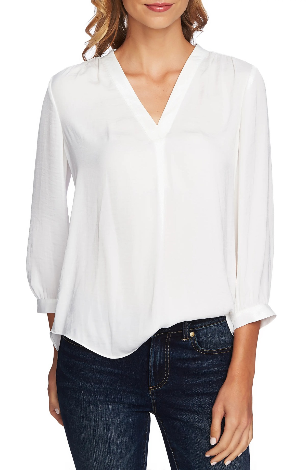 Rumple Fabric Blouse, Main, color, NEW IVORY