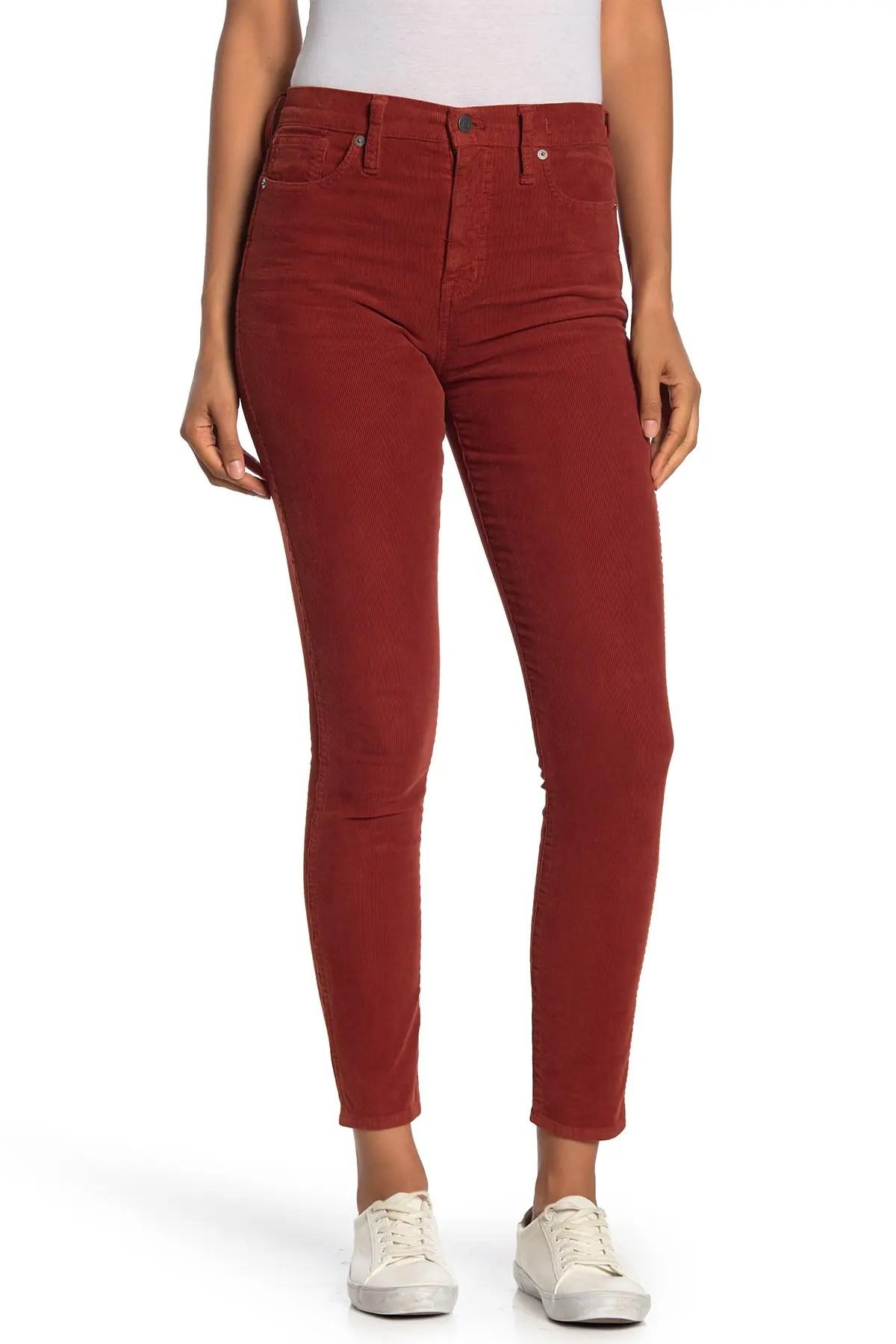 madewell high rise corduroy crop skinny jeans nordstrom rack