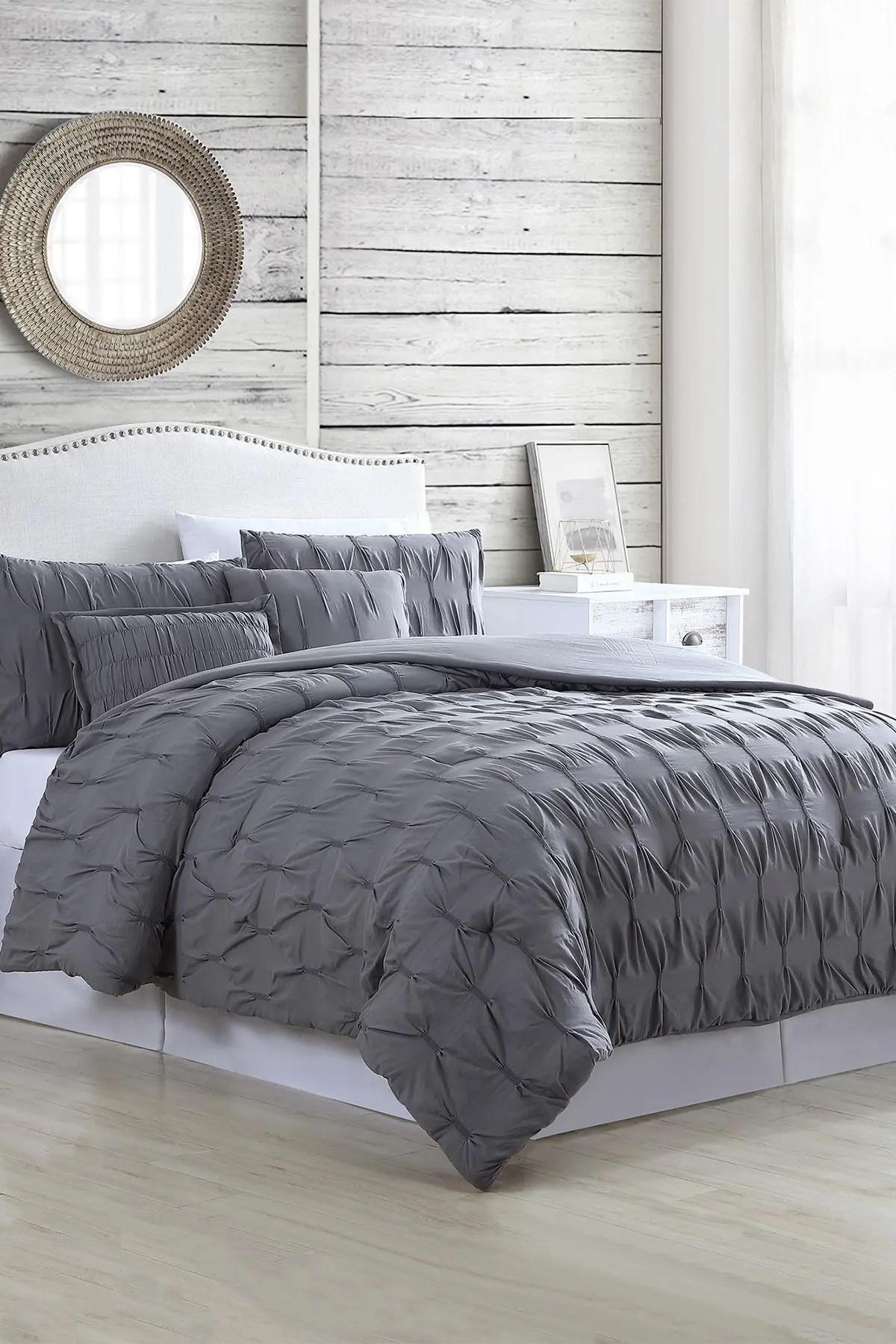 5 piece textured comforter set
