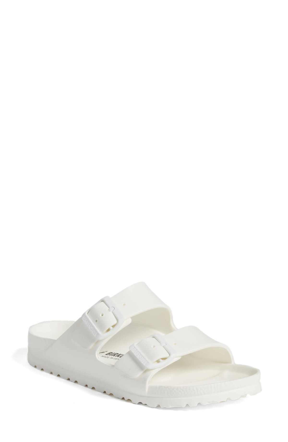 BIRKENSTOCK Essentials - Arizona Slide Sandal, Main, color, WHITE EVA