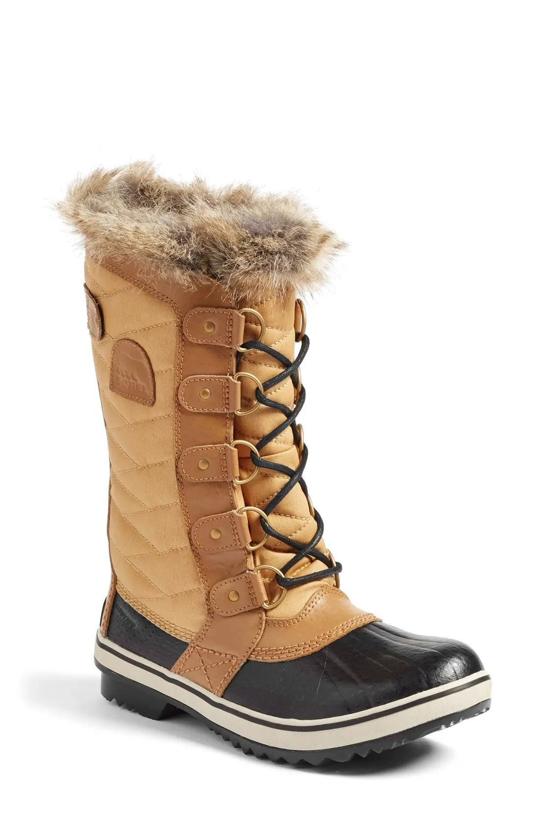 SOREL 'Tofino II' Faux Fur Lined Waterproof Boot, Main, color, CURRY
