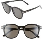 Tom Ford Jameson 52mm Polarized Round Sunglasses Nordstrom