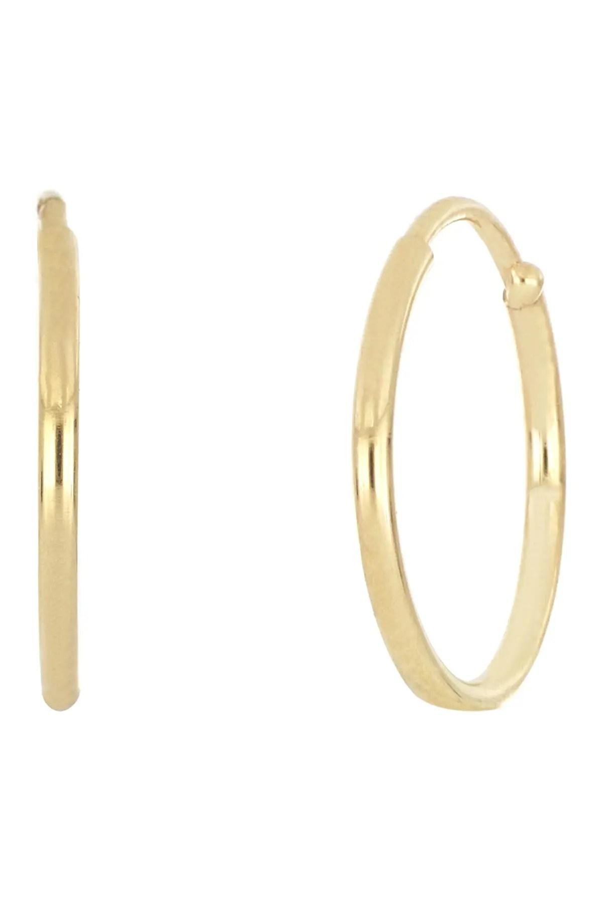 bony levy 14k yellow gold 12mm huggie hoop earrings nordstrom rack