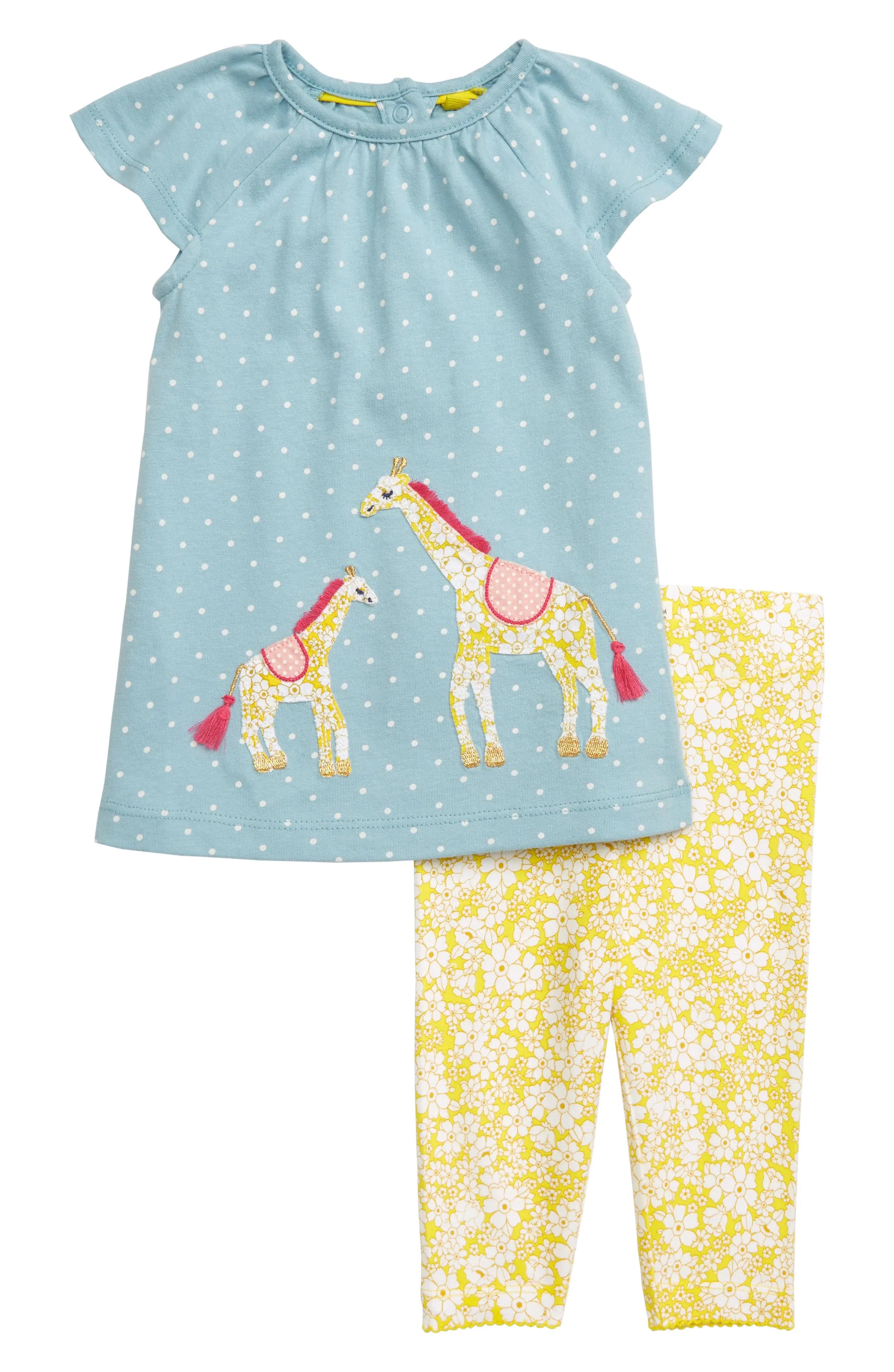 mini boden giraffe applique dress