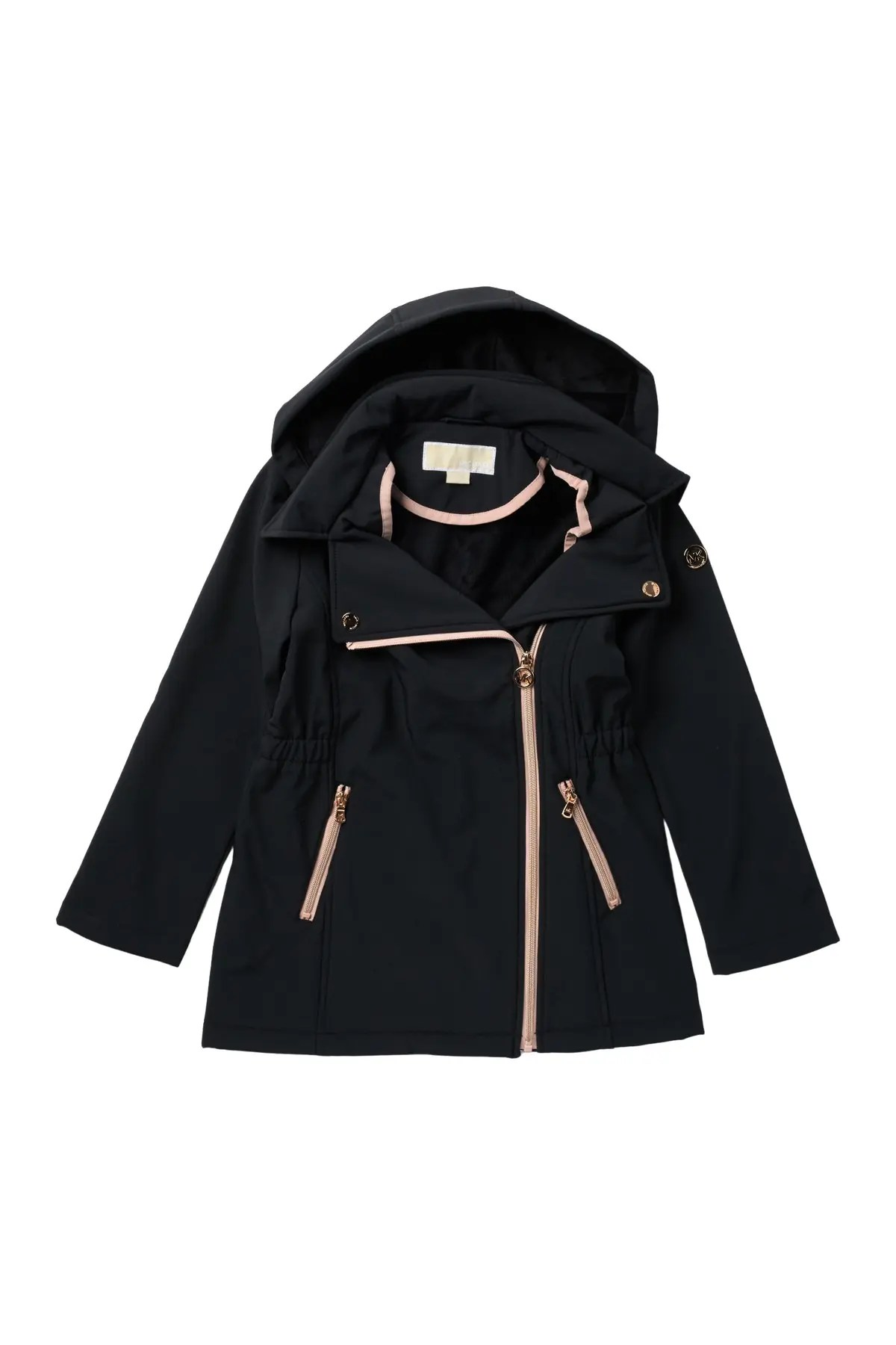 michael kors asymmetrical hooded soft shell jacket nordstrom rack