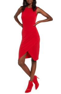 Wrap Minidress, Main, color, RED CHILI