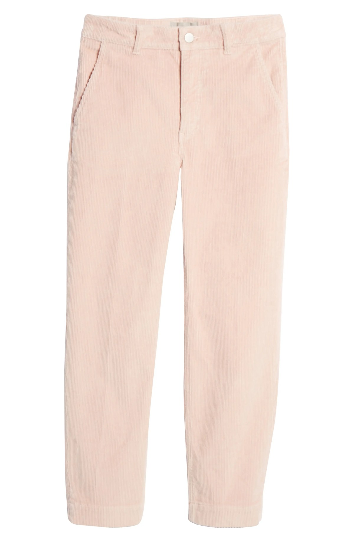 EVERLANE The Corduroy Straight Leg Crop Pants, Main, color, DUSTY PETAL