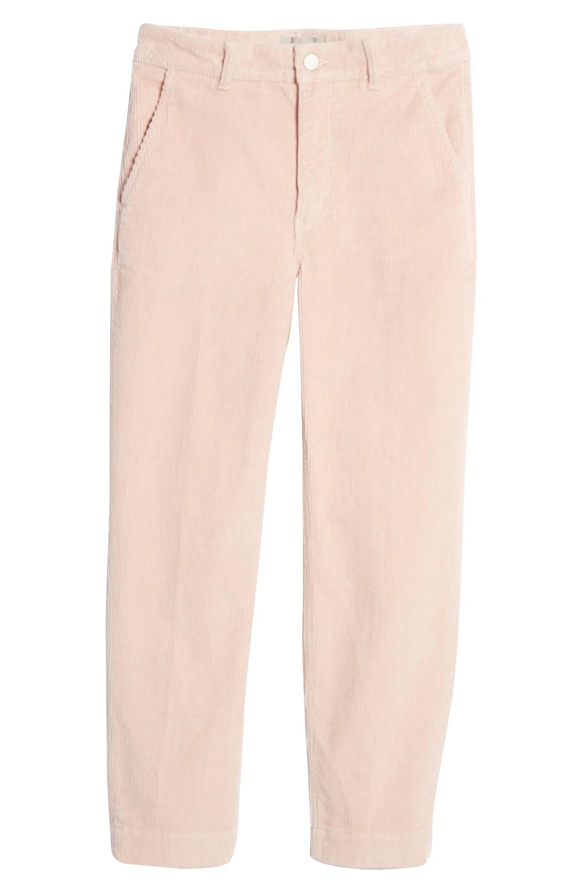 EVERLANE The Corduroy Straight Leg Crop Pants, Main, color, DUSTY PETAL