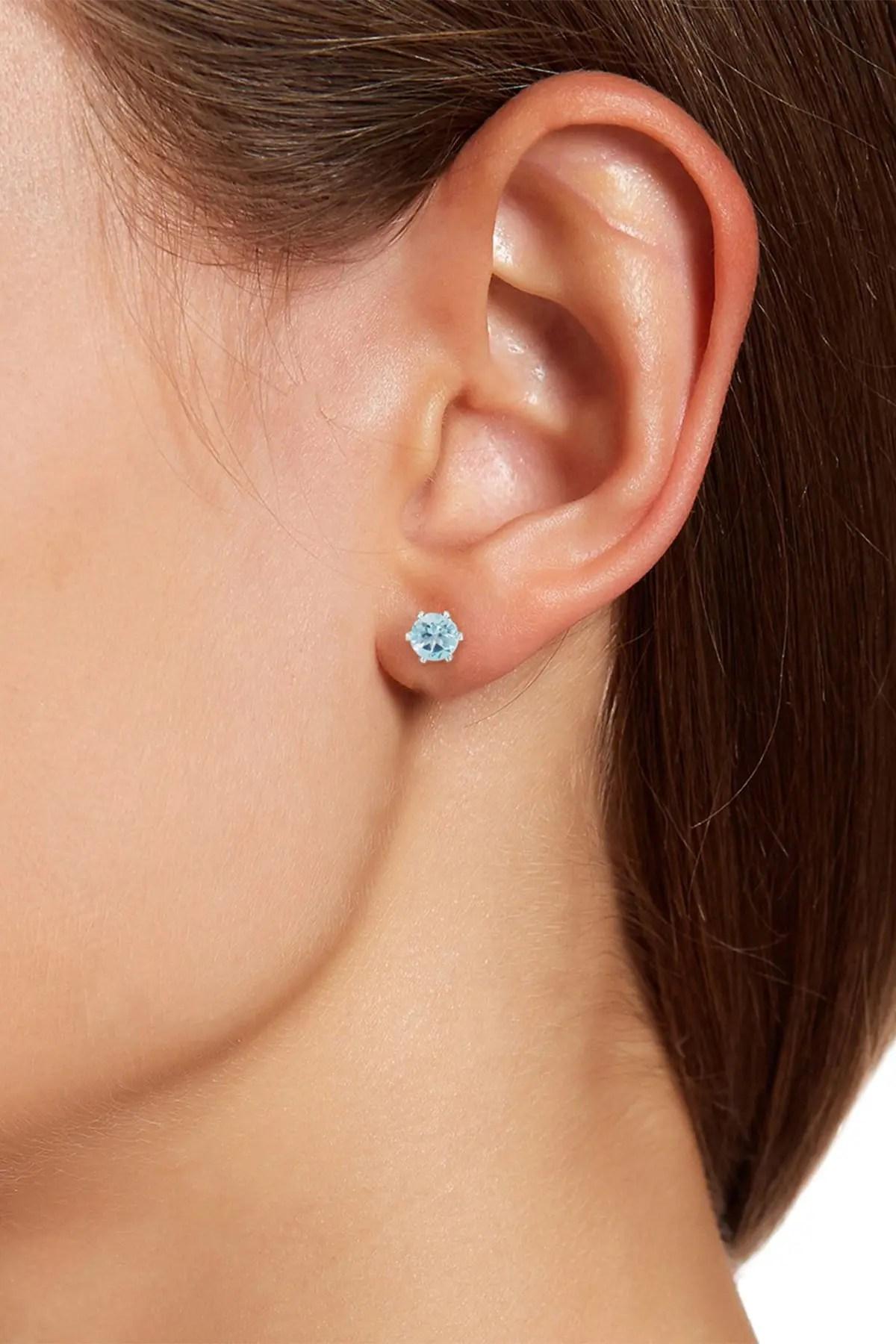 savvy cie sterling silver sky blue topaz stud earrings nordstrom rack