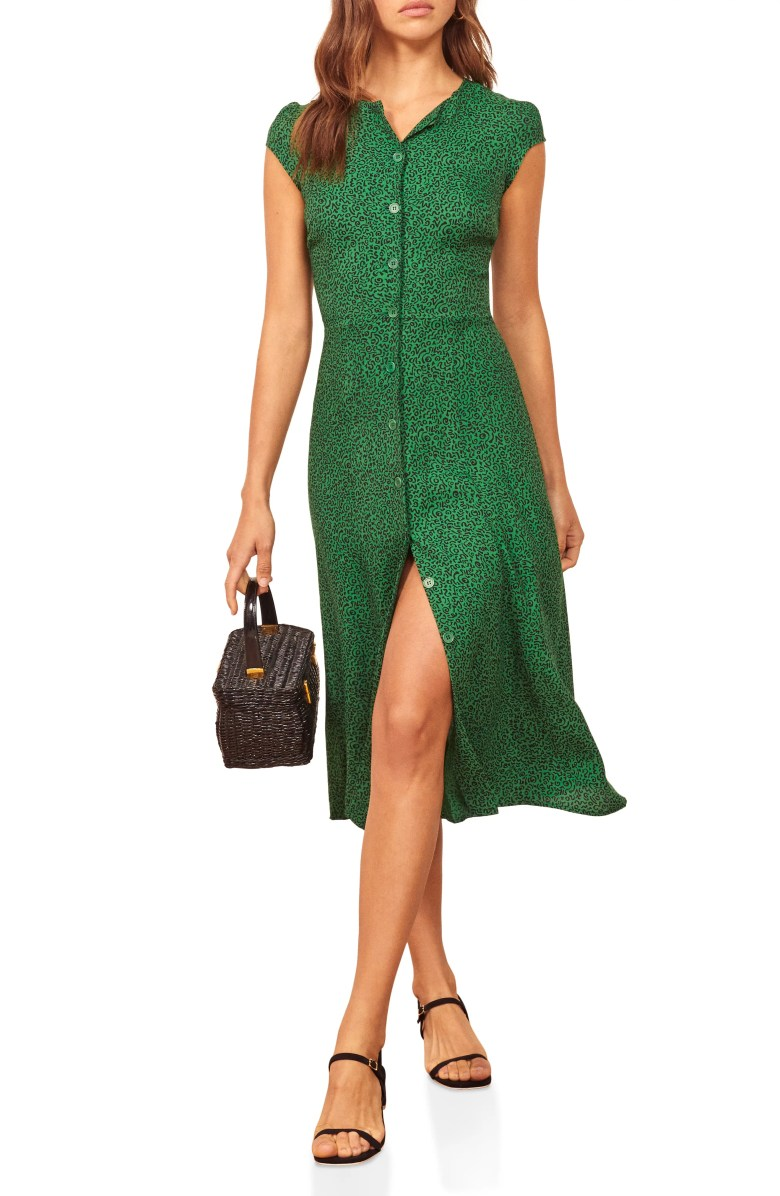 Reformation Fauna Front Button Midi Dress Nordstrom