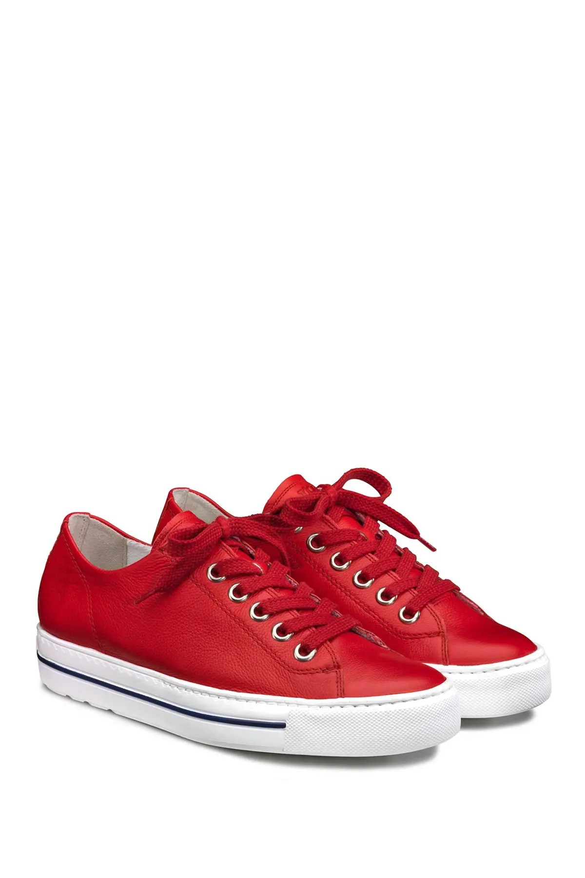 paul green leather lace up sneaker nordstrom rack