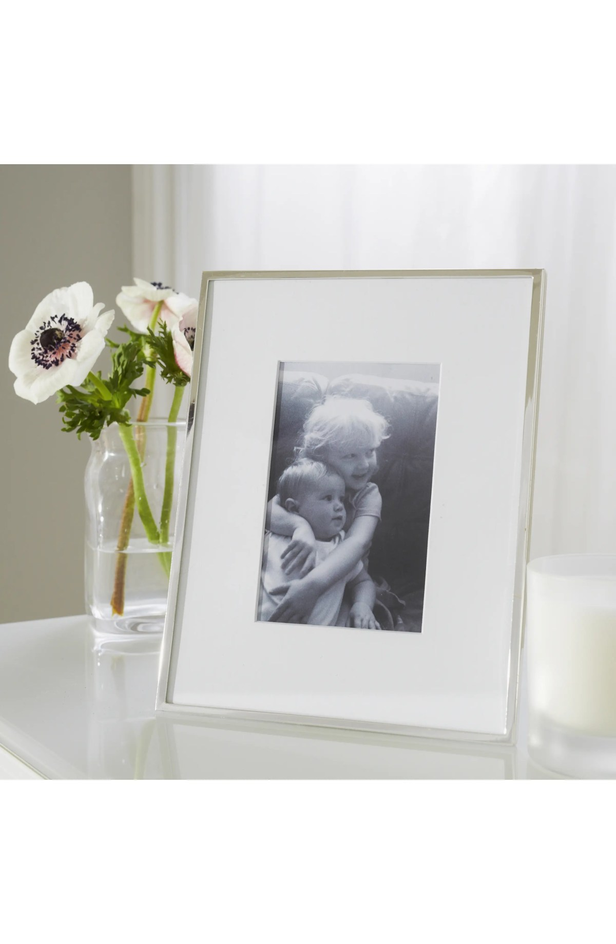 THE WHITE COMPANY Fine Silver Plated Picture Frame, Alternate, color, SILVER