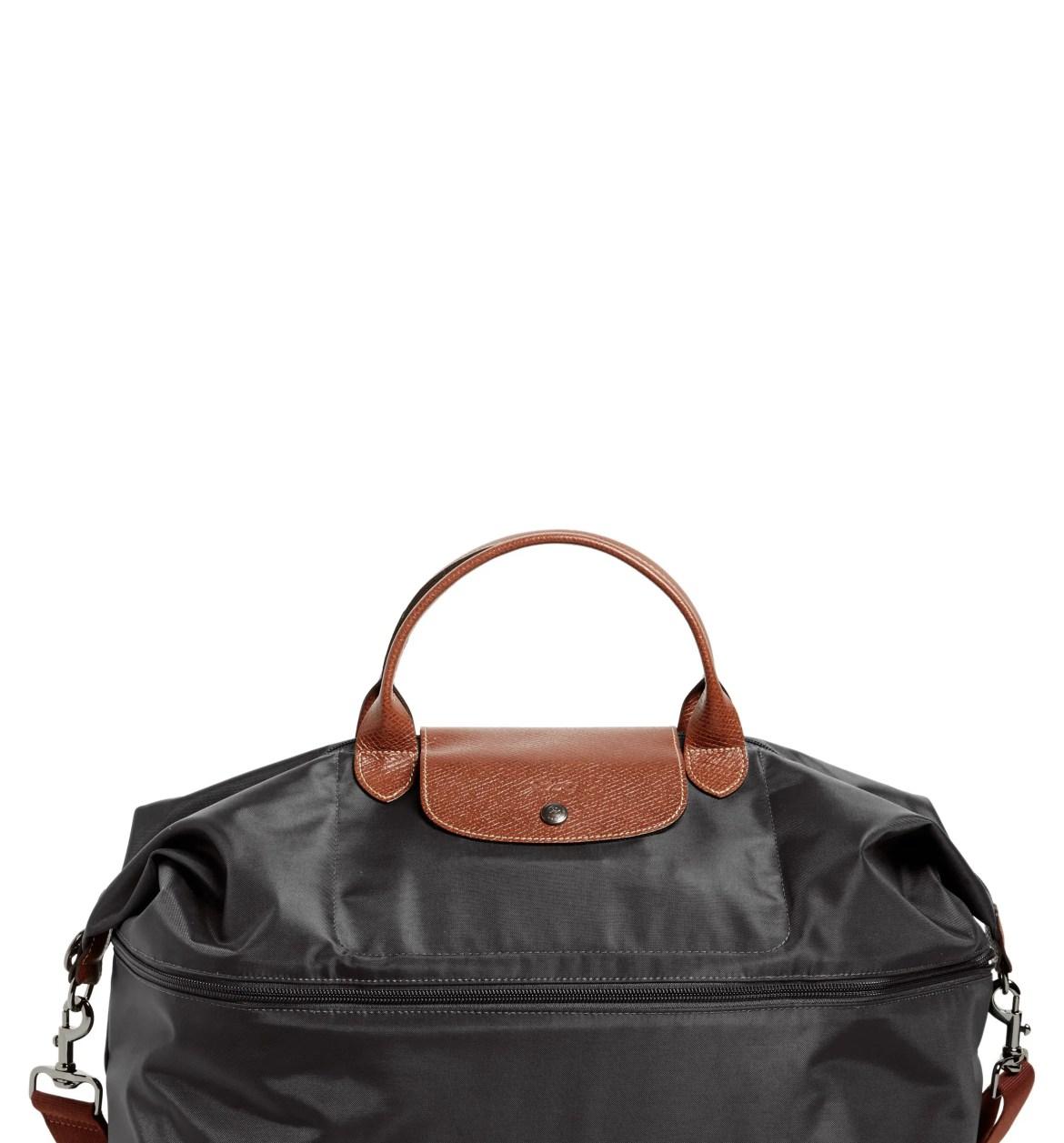 LONGCHAMP Le Pliage 21-Inch Expandable Travel Bag, Main, color, BLACK
