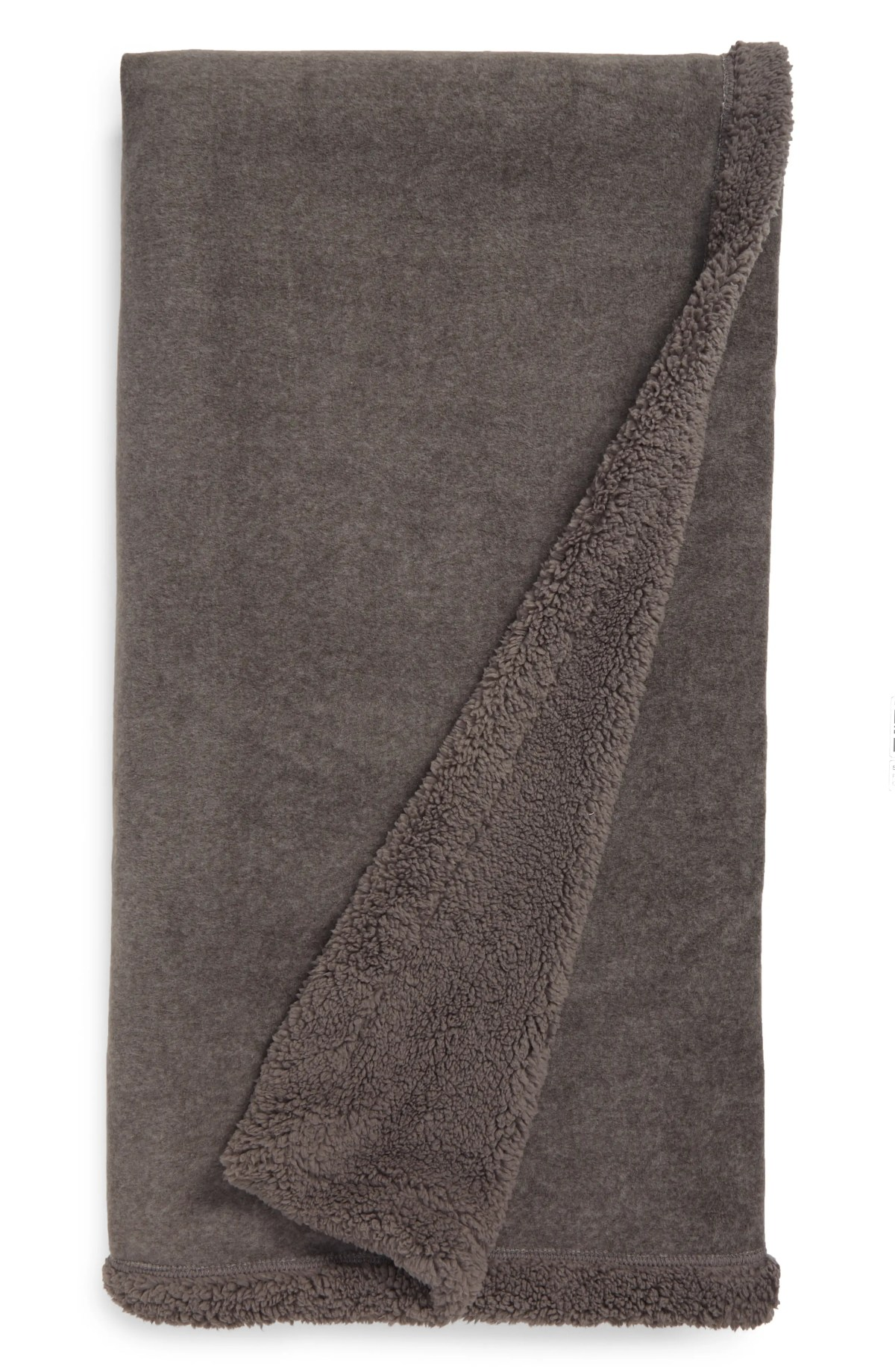 NORDSTROM AT HOME Faux Fur Throw, Main, color, GREY DECEMBER