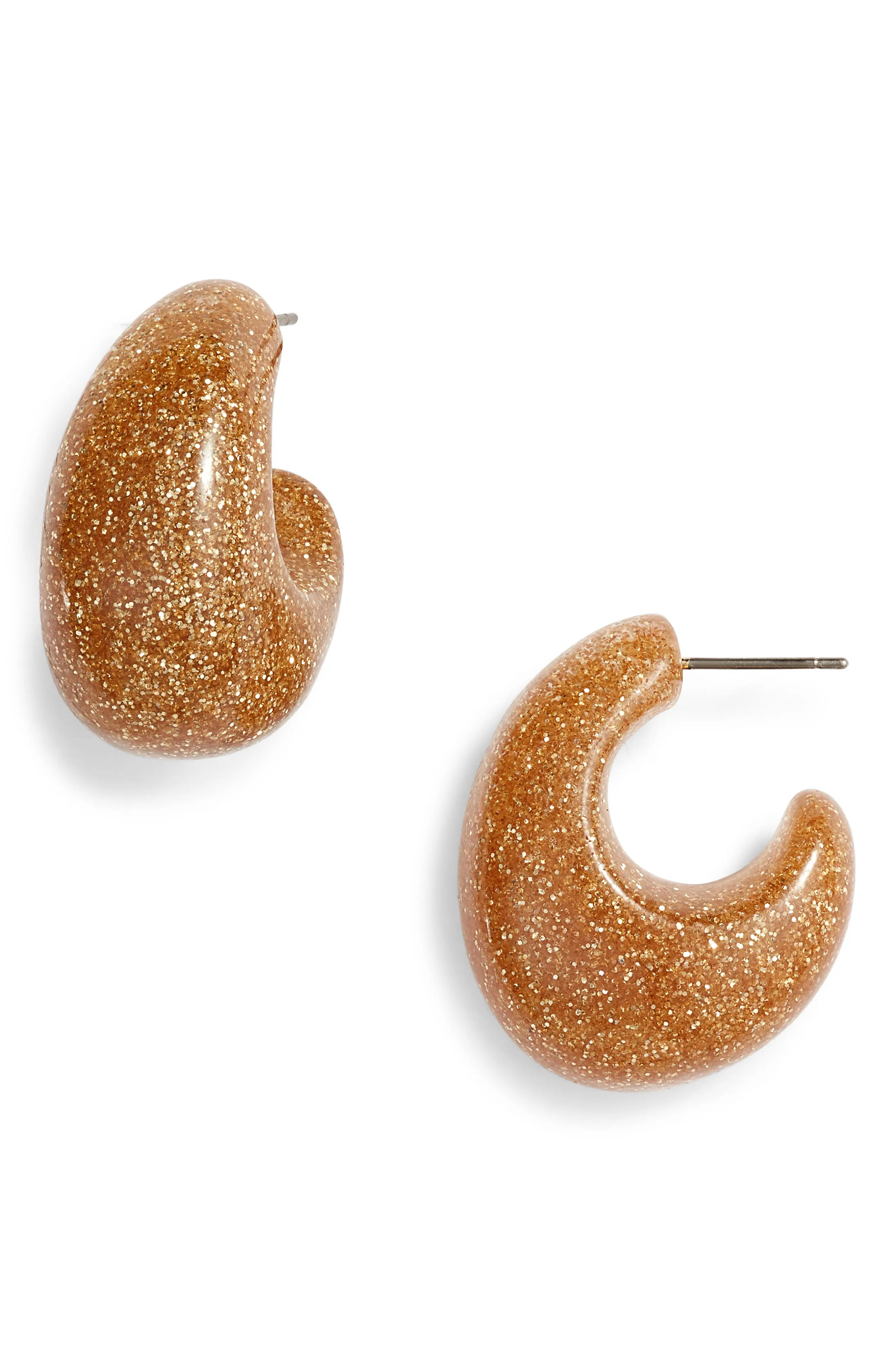 glitter 41mm hoop earrings