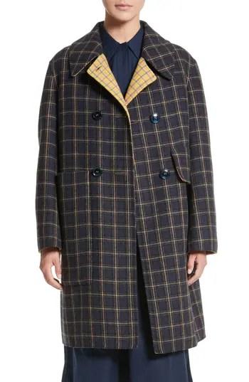 Women's Sofie D'Hoore Plaid Wool Blend Car Coat, $1900.0