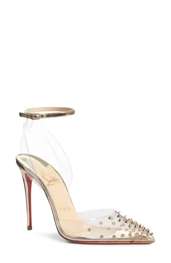 0807ccb6d578 Women s Christian Louboutin Spikoo Clear Ankle Strap Pump – NORDSTROM.com –   995.00