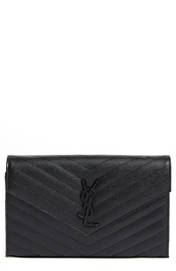b99a689b4e8 Women's Saint Laurent Monogram Quilted Leather Wallet On A Chain – –  NORDSTROM.com – $1,650.00