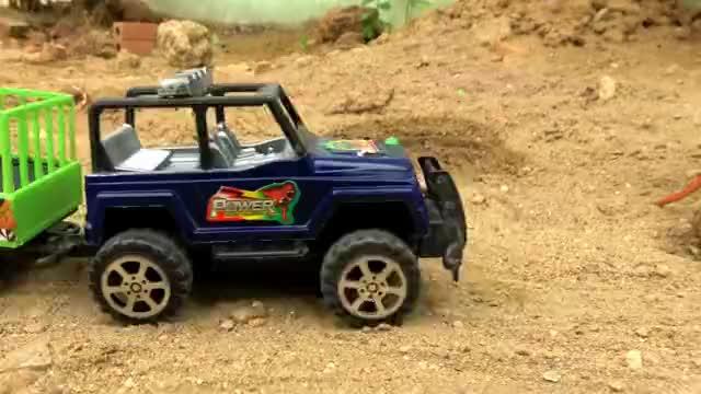 工程车和挖掘机帮助动物和汽车玩具,婴幼儿宝宝早教益智游戏视频-小柚妹站