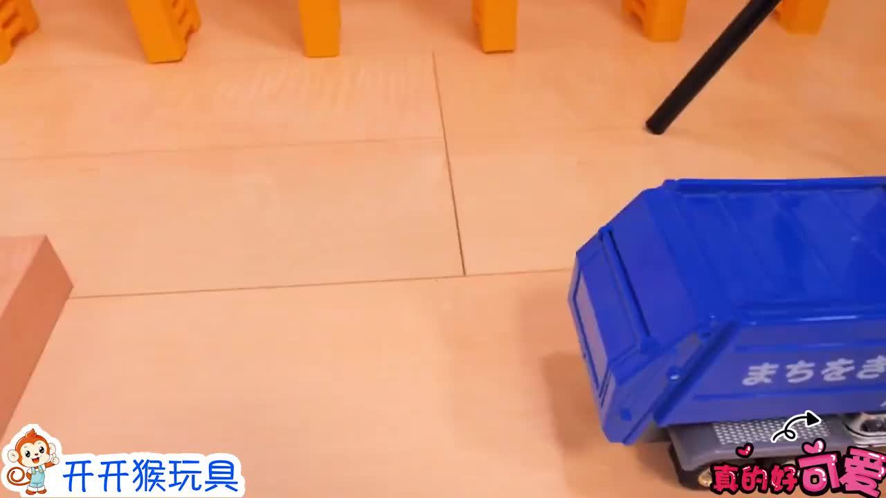 垃圾车和翻斗车怎么装下超多弹珠?哪个颜色好看?益智玩具车游戏-小柚妹站
