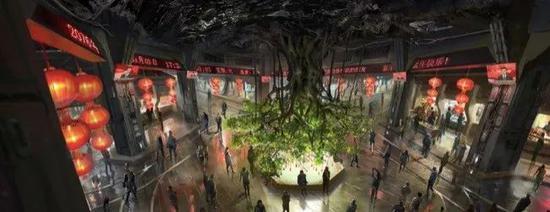 圖為中國特色地下城的概念圖