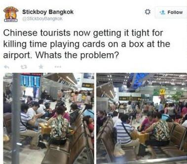 中國大媽曼谷機場打牌 遭泰國人痛批