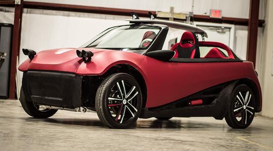 全球首款3D打印汽車明年預售:價格5.3萬美元起