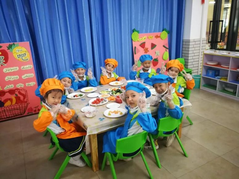 日内瓦代表们参观的一所位于和田洛浦县的双语幼儿园
