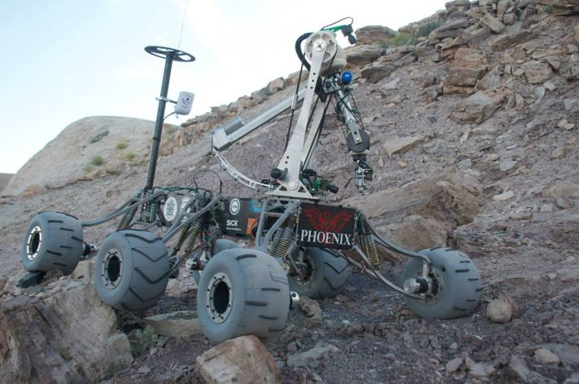 "The 2014 Mars Rover ""Phoenix"" after having survived said modifications."