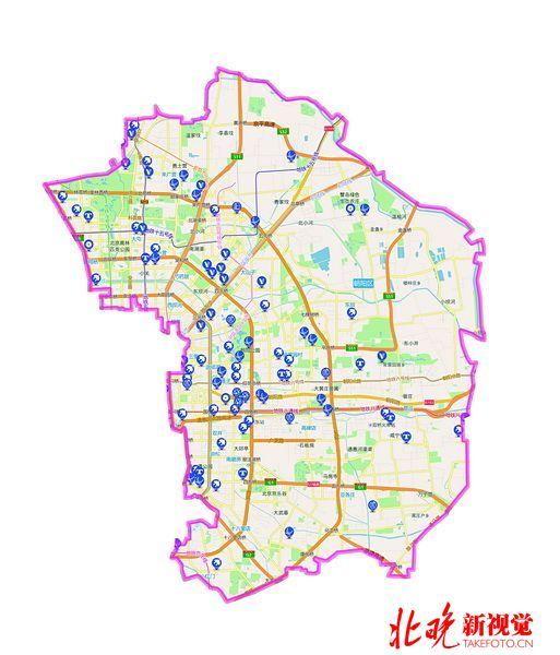 北京市朝陽區地圖-