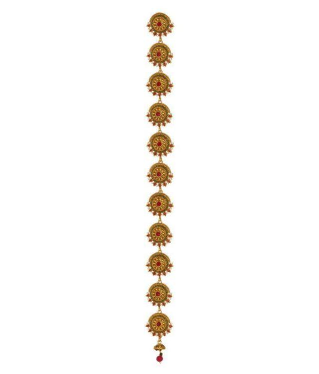 adoreva gold plated south indian fashion traditional wedding bridal long choti jadai hair accessories