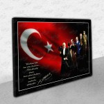 Bayraklı Atatürk – Kanvas Tablo