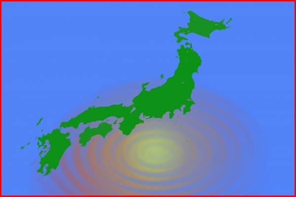 日本地図 地震