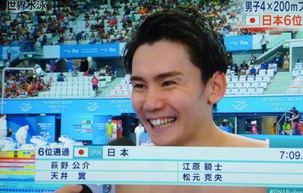 江原騎士 水泳