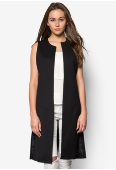 Dorothy Perkins  Black Sleeveless Jacket