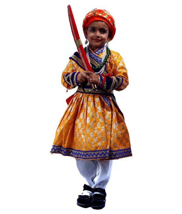 SBD Shivaji Maharaj Fancy Dress Costume For Kids - Buy SBD ...