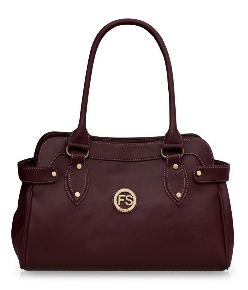 Fostelo Maroon P.U. Shoulder Bag